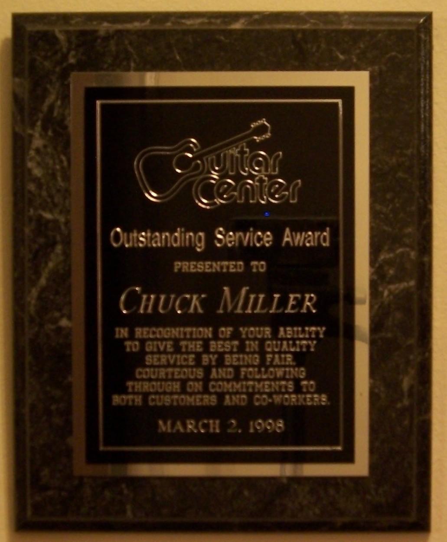 Chuck Miller's Guitar Center Awards, Certifications And ...